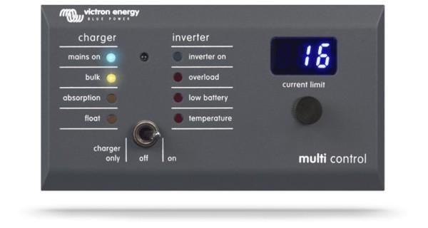 Panneau contrôle Victron Multi Digital VE-Bus 200A/200A GX (90°)