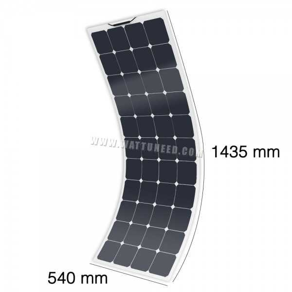 panneau solaire flexible 12v mx flex protect 130wc. Black Bedroom Furniture Sets. Home Design Ideas