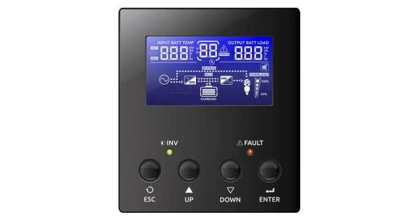 Affichage digital de l'onduleur hybride WKS Plus 3 kVA 48V