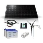 Off-grid hybrid kit : wind 400W & solar 275Wp