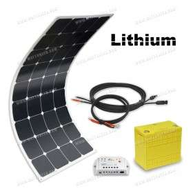 Off-grid solar kit MX Flex Lithium 100Wp - 12V