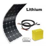 Off-grid solar kit MX Flex Lithium 100Wp 12V