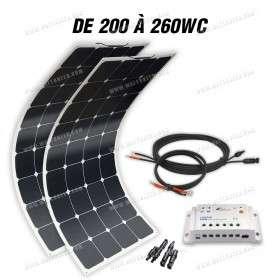 Boat off-grid solar kit MX FLEX 200 to 260Wp - 12V