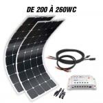 Boat off-grid solar kit MX FLEX 200 to 260Wp 12V