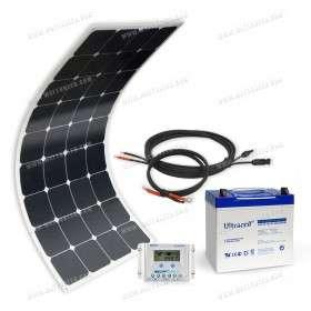 Kit solaire MX Flex Protect 100Wc - 55Ah - 12V