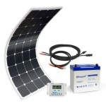 Off-grid solar kit MX Flex Protect 100Wp 55Ah 12V