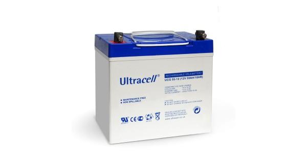 Solar Battery Ultracell Gel 55Ah or 100Ah