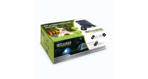 Kit solaire composé d'une lampe solaire et d'un chargeur USB - 12V