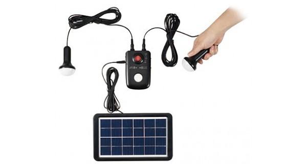 Compact Portable Solar Lighting kit - 12V