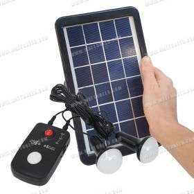 3W Compact Portable Solar Lighting kit - 12V