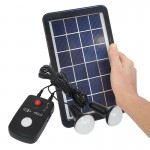 3W Compact Portable Solar Lighting kit 12V
