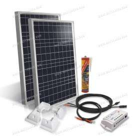 Camper van off-grid solar kit 2x50Wp - 12V