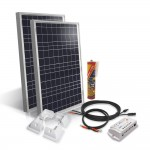 Camper van off-grid solar kit 2x50Wp 12V