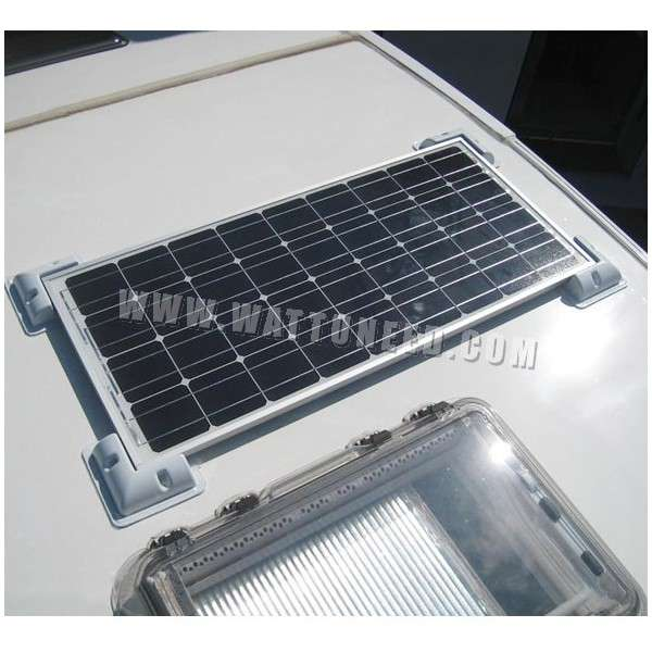 Off Grid Solar Kit 50wp 12v With Square Brackets For