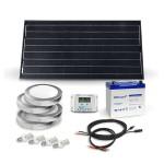 Kit éclairage autonome LED 100Wc avec appliques murales