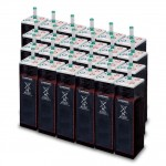 Parc de 225 kWh batteries OPzS 48V