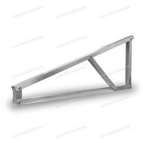 Foot for free-standing structure in aluminium