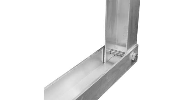 Foot for self-supporting aluminium structure for photovoltaic solar panel. Details