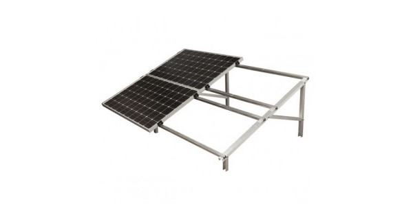 Foot for self-supporting aluminium structure for photovoltaic solar panel.