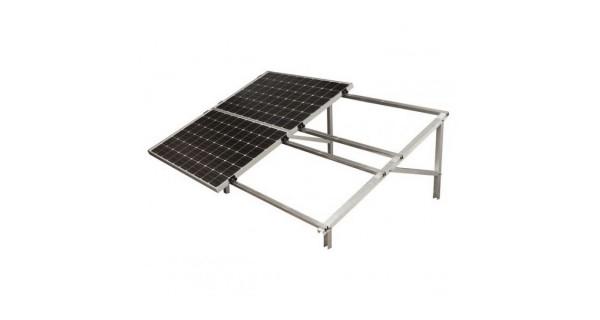 Pied pour structure autoportante en aluminium pour panneau solaire photovoltaïque.