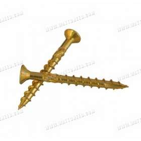 Solar panel mounting screws for roof structures