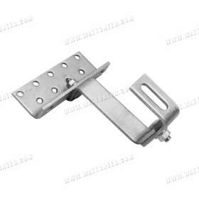Clasp double settings for roof tiles