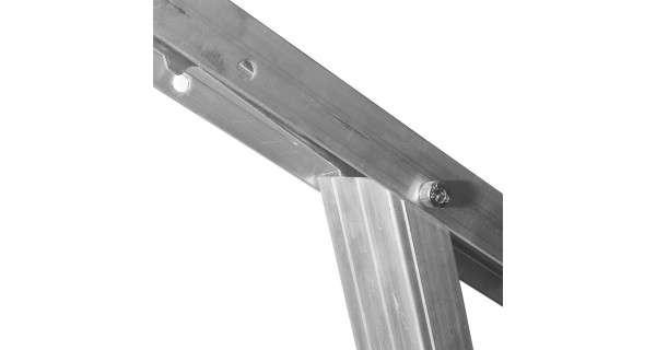 Aluminium adjustable photovoltaic panel support