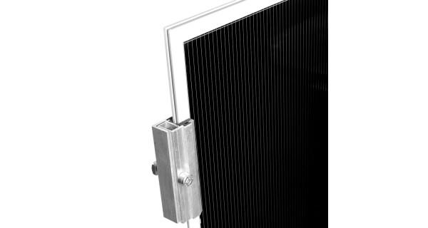 Clame de fin panneau solaire sans cadre