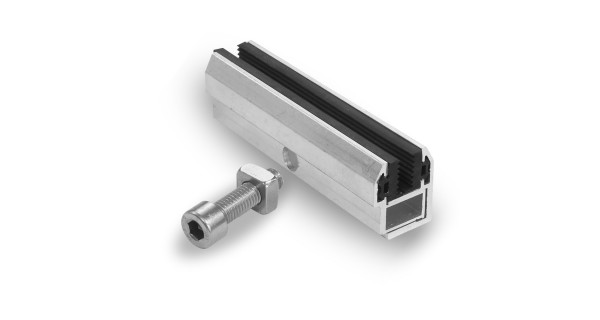 End fastening clamp - for solar panel without frame
