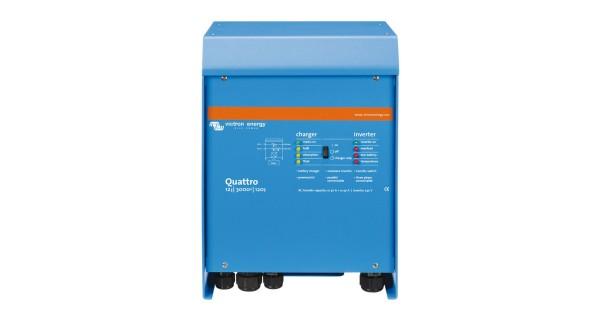 Inverter Victron Quattro 12V : from 3000 to 5000VA, 24V : from 3000 to 8000VA, 48V : from 5000 to 10000VA
