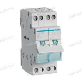Modular change-over switch 2x 25A
