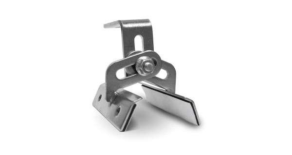 Crochet de fixation panneau pour tôle trapezoïdale