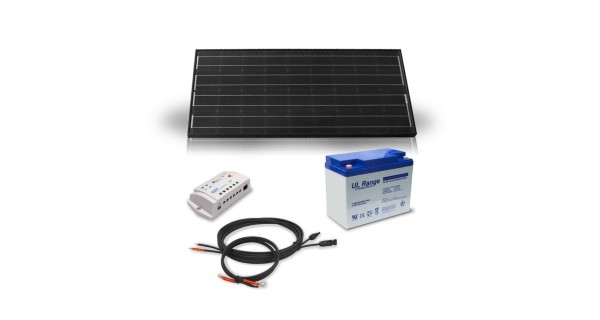 Kit solaire 100Wc - 55Ah - 12V