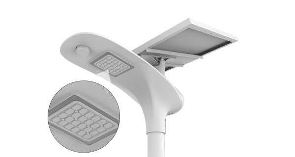 Solar Floor Lamp - Stand-alone LED 15W 18V FB