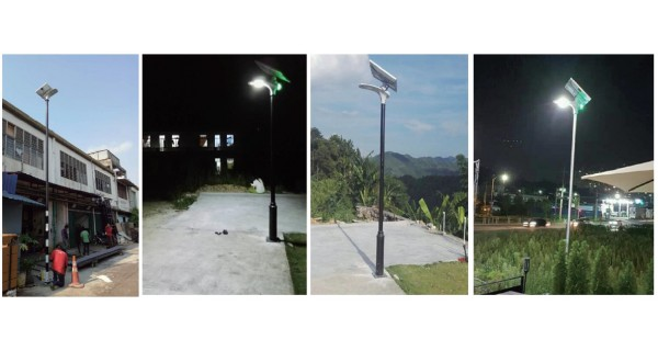Solar Floor Lamp - Stand-alone LED 15W 18V FB
