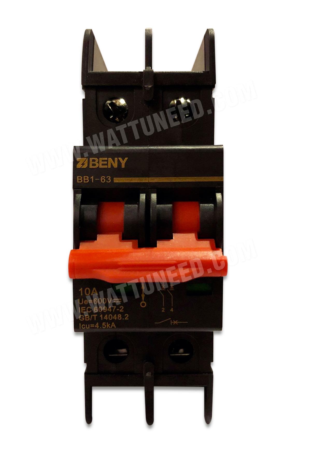 DC circuit breaker 10A - 600 V DC