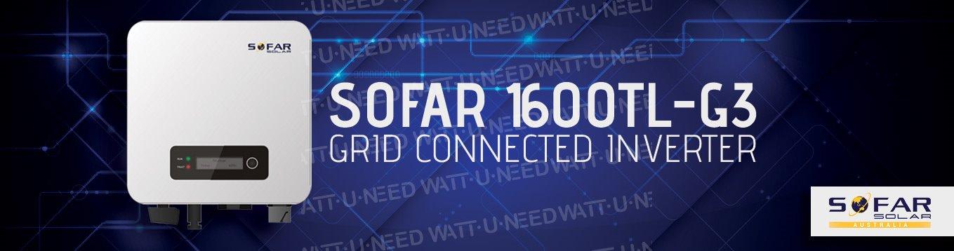 Presentation of the inverter: SOFAR 1600TL-G3. Grid connected Inverter