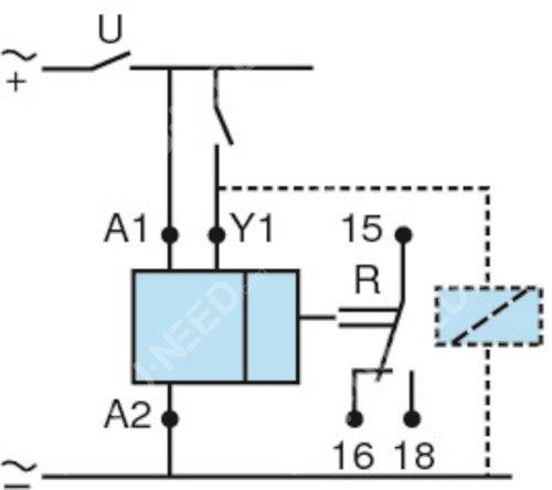 Sortie 1 relais inverseur