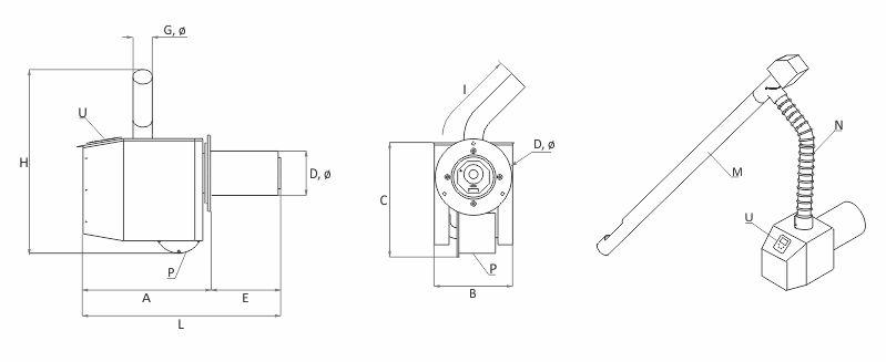 Technic scheme Pellet burner BURNiT Pell