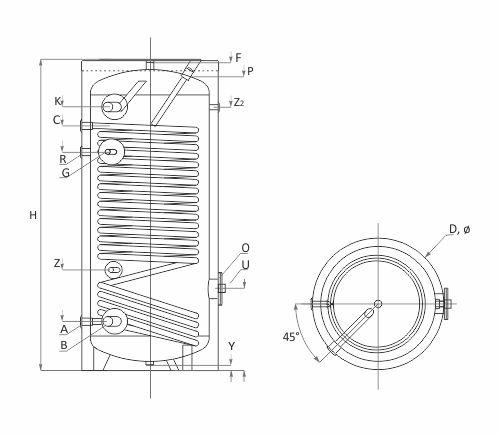 Chauffe-eau 150-500L à pompe à chaleur BURNiT SWP N - 1 échangeur 23c078aca8d9
