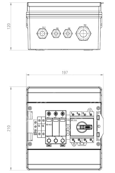 ZJBENY DC single-surge arrestor box