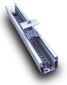 Rail de fixation pour panneaux solaires