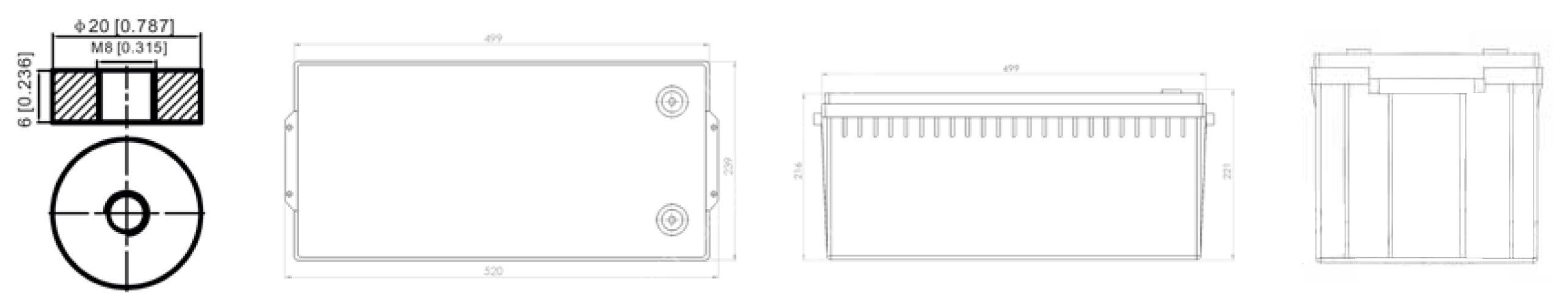 Size PowerBrick + 24V 150Ah