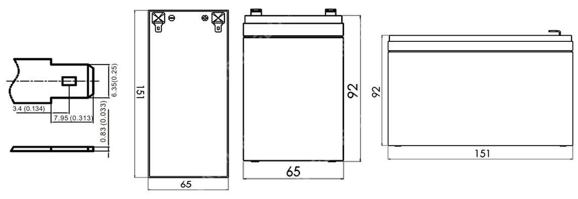 size-battery Power Brick 12V 7,5Ah