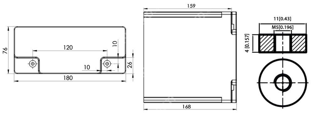 Dimensions PowerBrick 12V 20Ah