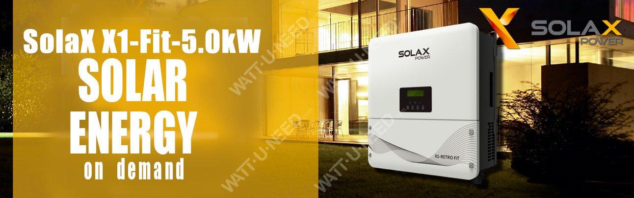 Onduleur Solax X1 Retro Fit 5.0kW
