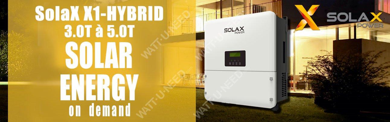 Onduleur SolaX X1 hybrid monophasé HV de 3.0T à 5.0T