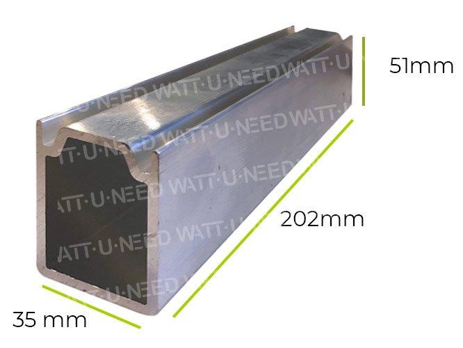 Dimensions: Jonction de rail (pour rail 80mm)
