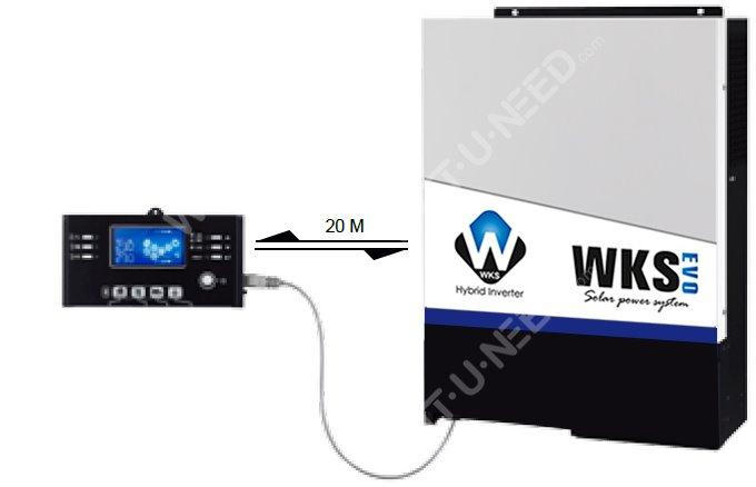 Module de contrôle LCD amovible avec diverses communications