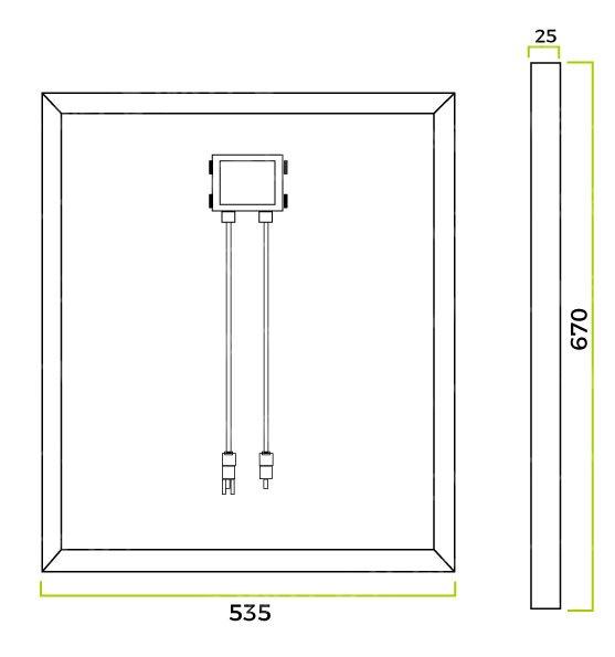 Dimensions panneau